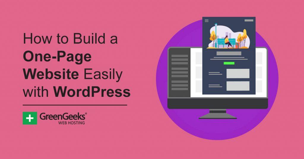 One Page Website WordPress